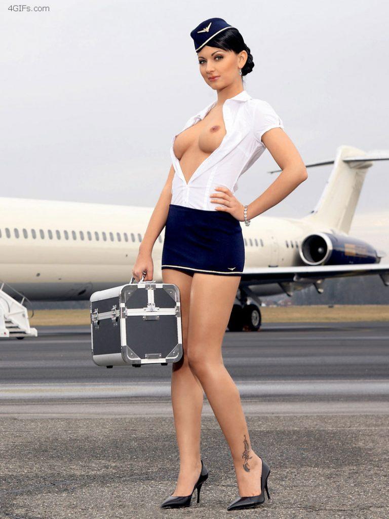 Imperdible compilado con fotos xxx de las azafatas mas sexys